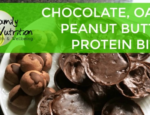 Chocolate, Oat And Peanut Butter Protein Bites
